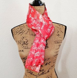 Musical notes,Christian scarf •see pricing!